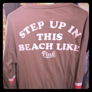 VS PINK beach coverup /long sleeve shirt